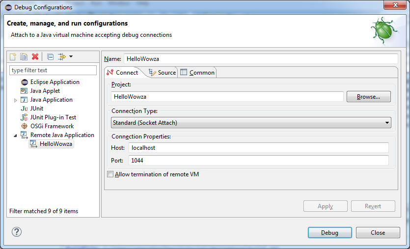 Debugging your Wowza Module from Eclipse   Streamtoolbox com